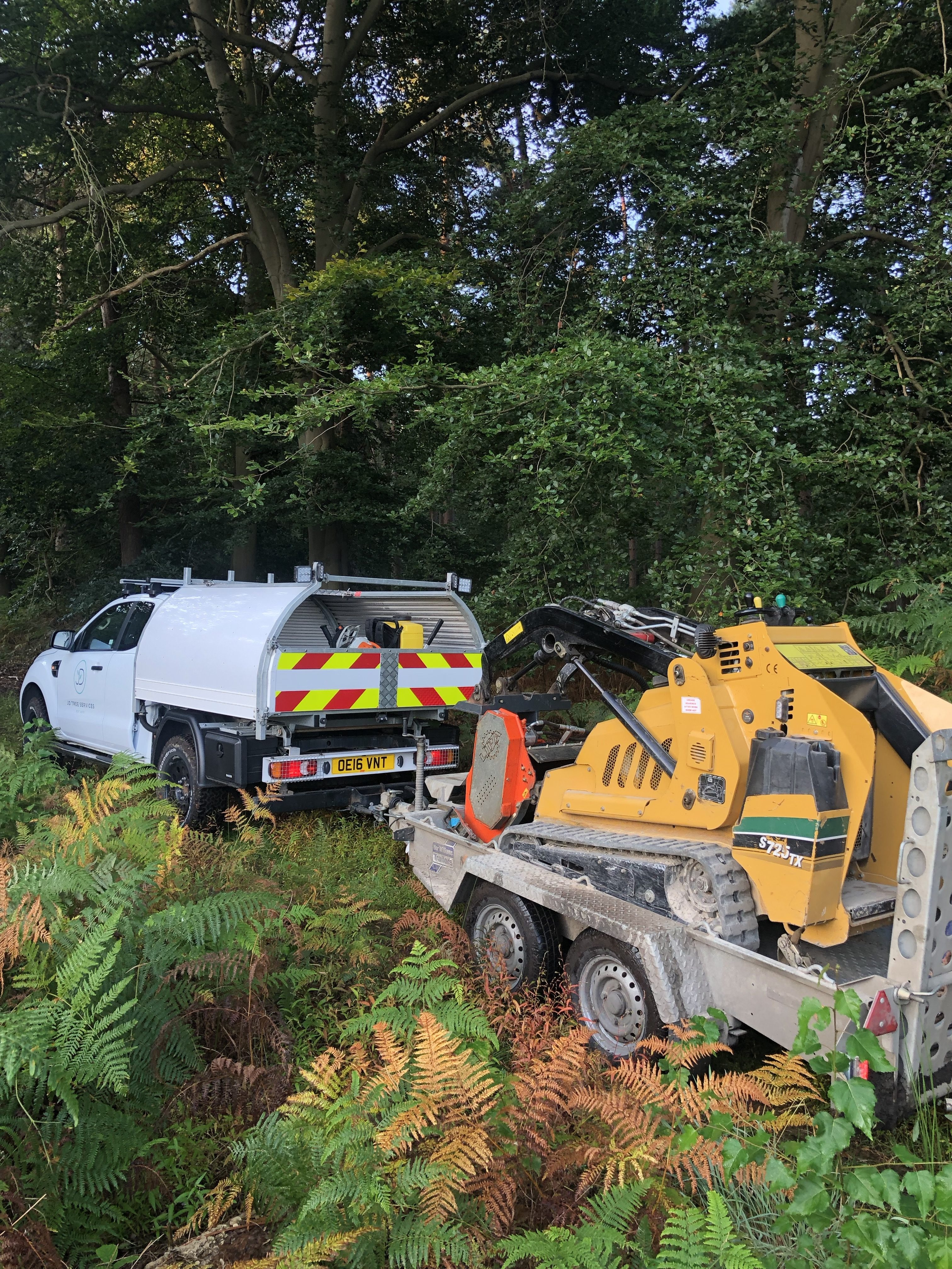 A day for our local forestry company recently cutting rows into unwanted vegetation ready for spraying.